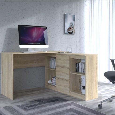 Odell Plus 2D3S íróasztal szekrénnyel, sonoma