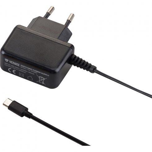 YENKEE YAC2026BK Type C, USB-C hálózati töltő 5V / 2A