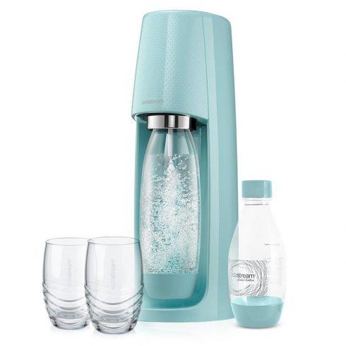 Sodastream SM SPIRIT  Szódagép + 2 pohár - türkiszkék