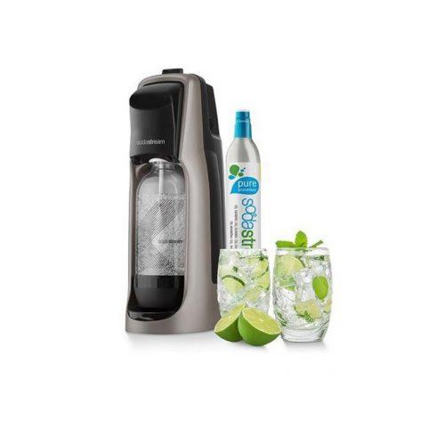 Sodastream SM JET PREMIUM Szódagép + 2 pohár - ezüst
