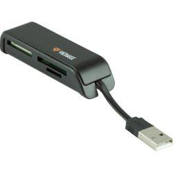 YENKEE YCR 2001 BK USB 2.0, 17 az 1-ben olvasó és átalakító