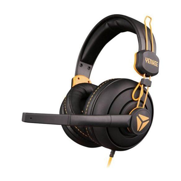 YENKEE YHP 3010 HORNET gamer fejhallgató - fekete-sárga