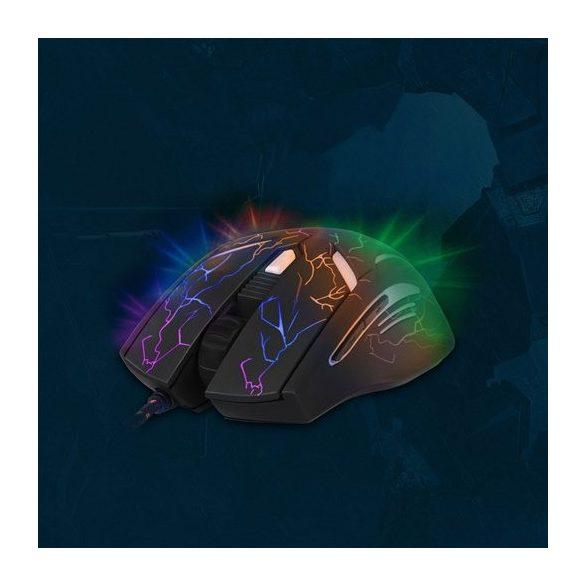 YENKEE YMS 3017 AMBUSH gamer egér - fekete-kék