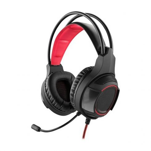 YENKEE YHP 3030 SABOTAGE gamer fejhallgató - fekete-piros