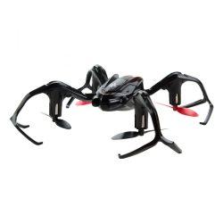 Quadcopter, drón, 15 cm, kezdők-haladók részére, 50 m hatótáv, fekete