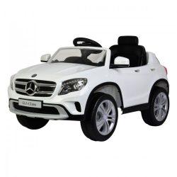 Mercedes terepjáró elektromos beülős autó, 3 éves kortól, 3 km/h, fehér