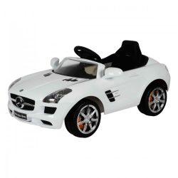 Mercedes SLS elektromos beülős autó, 3 éves kortól, 3 km/h, fehér