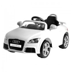 Audi TT elektromos beülős autó, 3 éves kortól, 3 km/h, fehér