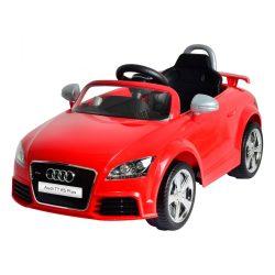 Audi TT elektromos beülős autó, 3 éves kortól, 3 km/h, piros
