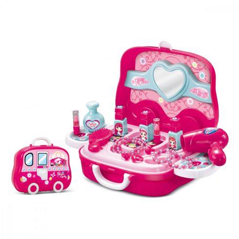 Szépségszalon játék bőröndben gyerekeknek