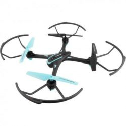 Quadcopter, drón, 30 cm, haladók részére, 50 m hatótáv, fekete-neon