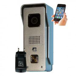 Android & iOS vezérlésű, IP65 fémházas wifi video kaputelefon