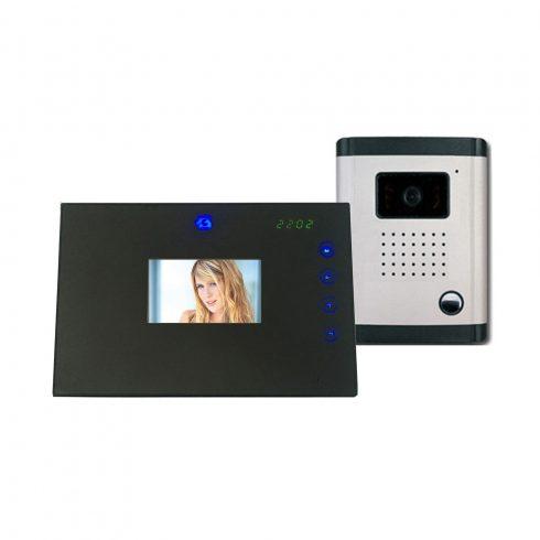 """2 x 3,5"""" LCD TFT lapos monitor, CMOS színes kamerával érintőgomb vezérléssel"""
