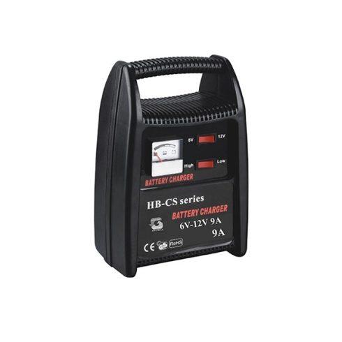 Autós és motoros akkutöltő 6V - 12 V / 9 A / 230 V / 50/60 Hz / 108 W