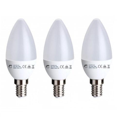 3 x gyertya 5W E14 LED izzó