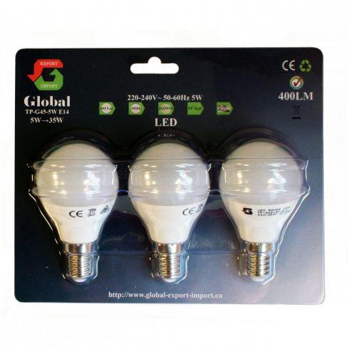 3 x G45 5W E14 LED izzó