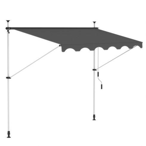 Aldabra HHYVA4012 balkon napellenző, 400x120 cm, antracit