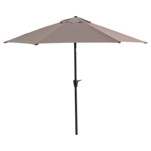 Fémvázas napernyő, állítható magassággal, 3 méter átmérő, barna színben