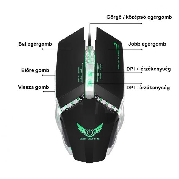 X700 gamer egér