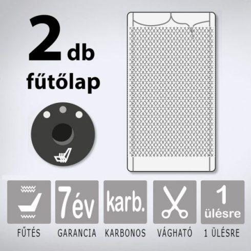 KIYO karbonszálas ülésfűtés 1 ülésre (3 fokozatú nyomógombos)