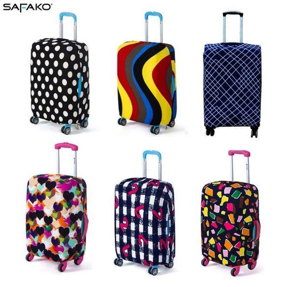 BP-B1XXL bőrönd védő borító huzat - kék-fehér rácsos - XXL - extra nagy bőrönd
