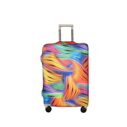BP-B5M bőrönd védő borító huzat - színes fonat - M - kis bőrönd
