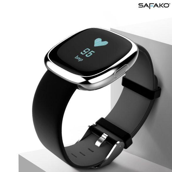 Safako SmartWatch 016 SPORT vízálló okosóra (Ezüst színben)