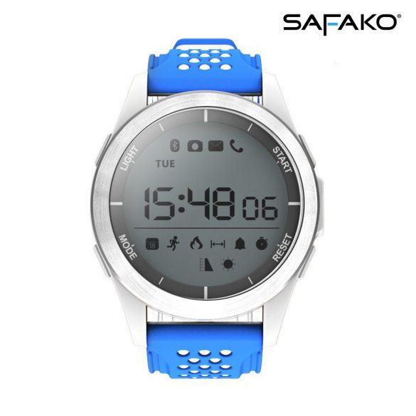 Safako SmartWatch Sport 2010 vízálló okosóra (Kék- fehér színben)