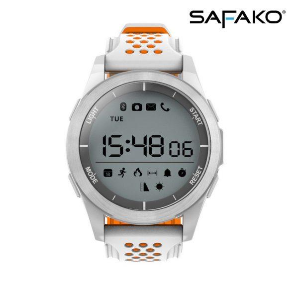 Safako SmartWatch Sport 2010 vízálló okosóra (Narancssárga- fehér színben)