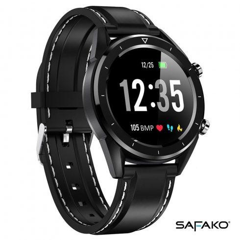 Safako SWP70 fekete óra fekete szíjjal