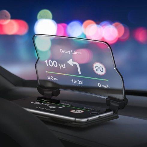 Hud Kijelző GPS okostelefonokhoz, univerzális fekete
