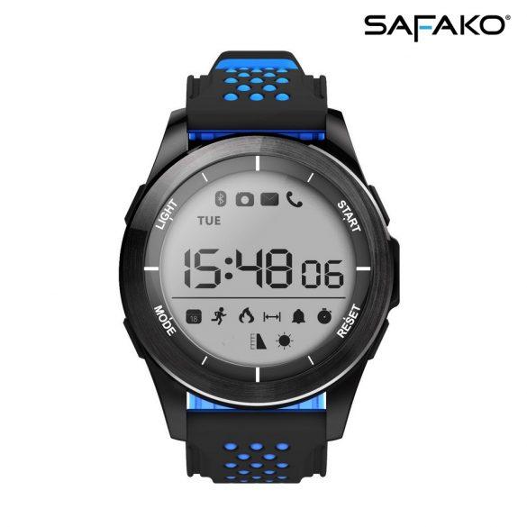 Safako SmartWatch Sport 2010 vízálló okosóra (Kék- fekete színben)