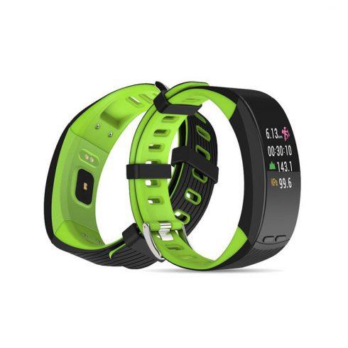 Safako SB9010 GPS okoskarkötő zöld-fekete színben